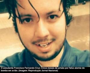 Estudante brasileiro preso nos EUA