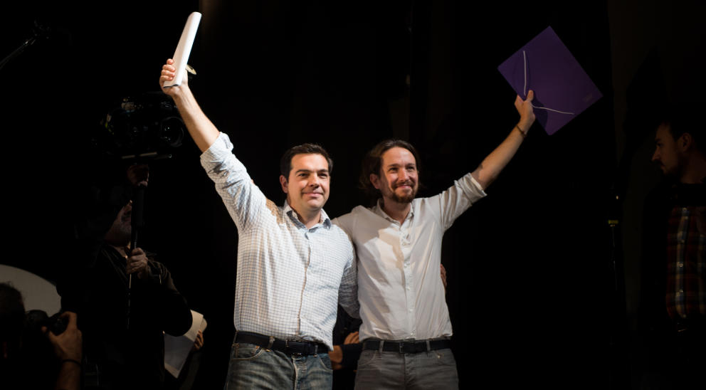 O líder, Alexis Tsipras e o lider de podemos, muita semelhança