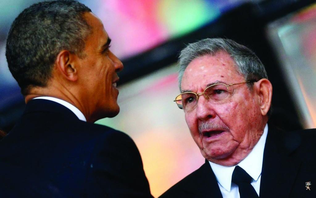 Os presidentes Barack Obama e Raúl Castro.