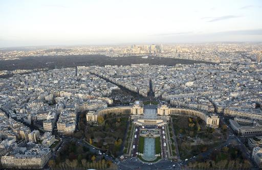 Imagem de Paris desde um Drone