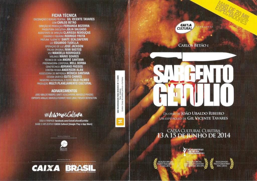 06 - 15.06.2014 - Sargento Getúlio (teatro) - folder 1