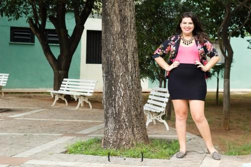 Marina Sena saia bandage blazer florido plus size (6)