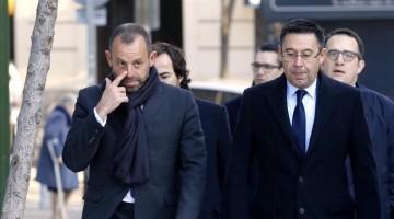 Madrid 01-02-2016 llegada a la Audiencia Nacional de Rosell y Bartomeu  para declarar por el caso Meymar  Agen Juan Manuel Prats